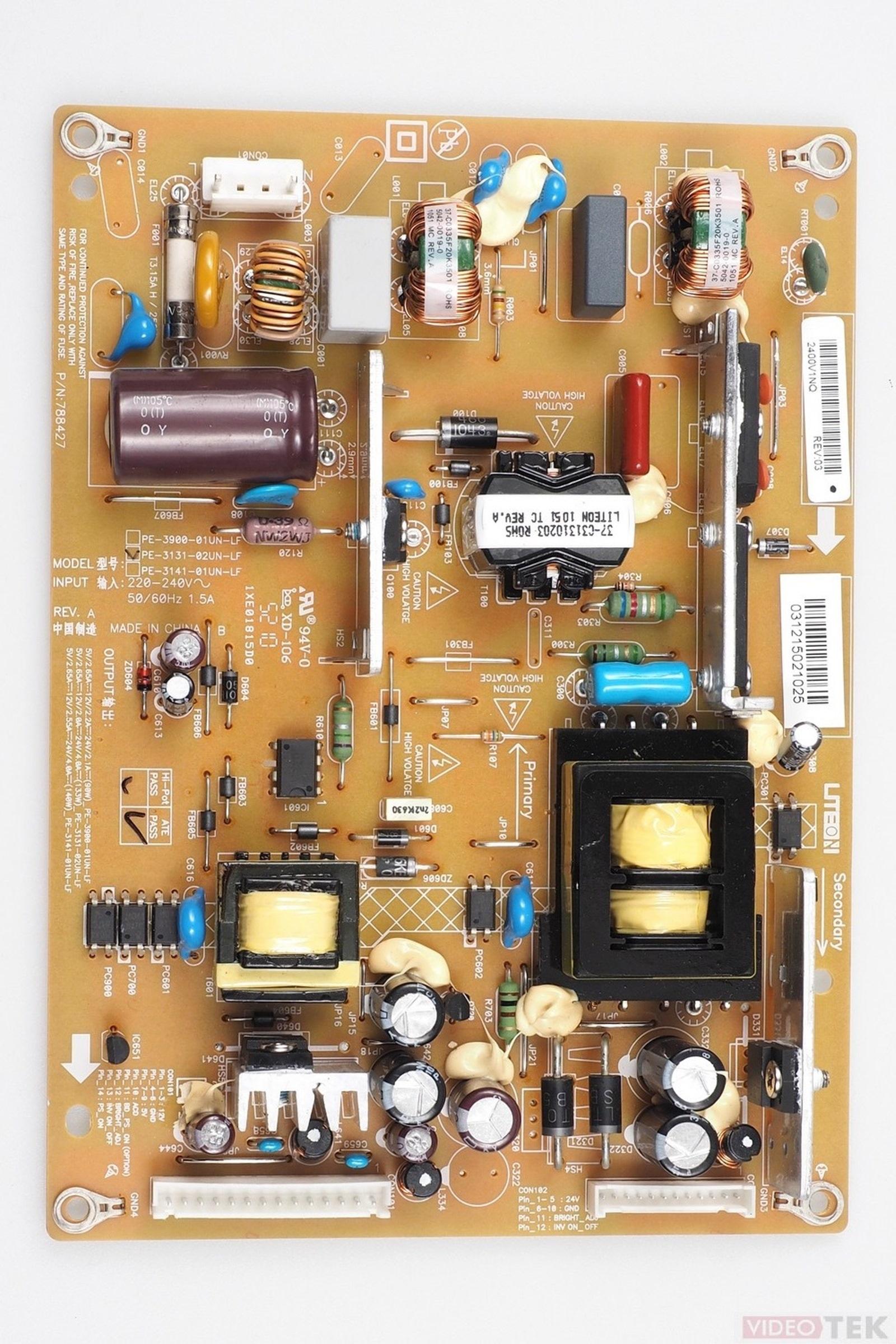 PL ALIM LCD TOSHIBA PE-3131-02UN-LF 75025188